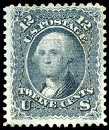 Value of US Stamp Scott Catalogue 90 - 12c 1868 Washington Grill. Schuyler J. Rumsey Philatelic Auctions, Apr 2015, Sale 60, Lot 2061