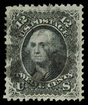 Cost of US Stamp Scott Catalogue #90: 1868 12c Washington Grill. Daniel Kelleher Auctions, Aug 2015, Sale 672, Lot 2294