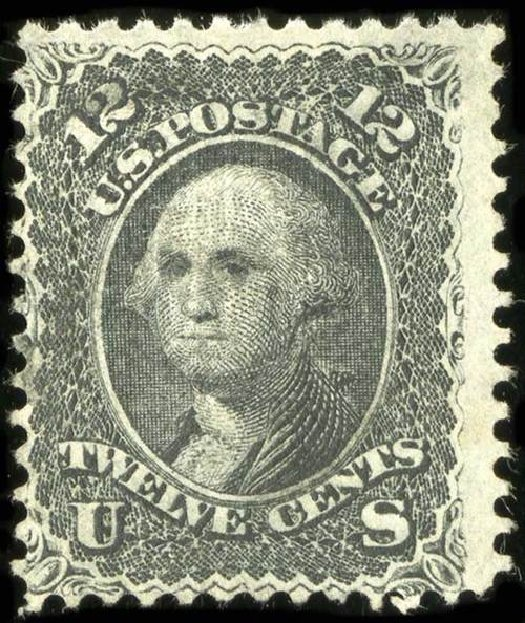 Prices of US Stamps Scott # 90 - 1868 12c Washington Grill. Spink Shreves Galleries, Jul 2015, Sale 151, Lot 84