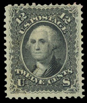 Prices of US Stamp Scott Cat. # 90 - 1868 12c Washington Grill. Daniel Kelleher Auctions, Aug 2015, Sale 672, Lot 2293