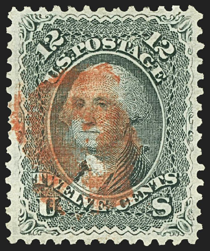 US Stamp Price Scott Catalogue 90: 12c 1868 Washington Grill. Robert Siegel Auction Galleries, Jul 2015, Sale 1107, Lot 203