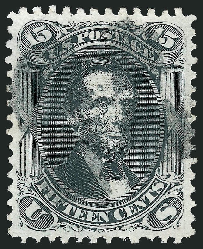 US Stamps Prices Scott #91: 15c 1868 Lincoln Grill. Robert Siegel Auction Galleries, Nov 2014, Sale 1084, Lot 3268