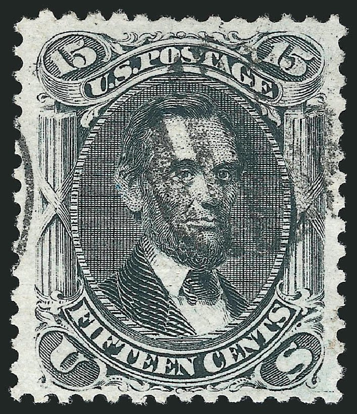 US Stamps Price Scott Catalogue #91: 15c 1868 Lincoln Grill. Robert Siegel Auction Galleries, Nov 2014, Sale 1084, Lot 3269