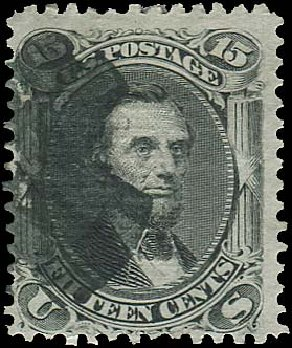 Price of US Stamps Scott # 91: 15c 1868 Lincoln Grill. Regency-Superior, Aug 2015, Sale 112, Lot 202