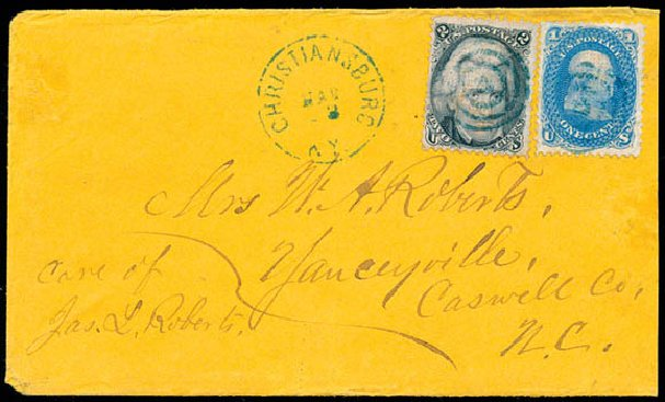 Prices of US Stamp Scott Catalogue #92 - 1c 1868 Franklin Grill. Schuyler J. Rumsey Philatelic Auctions, Apr 2015, Sale 60, Lot 1537