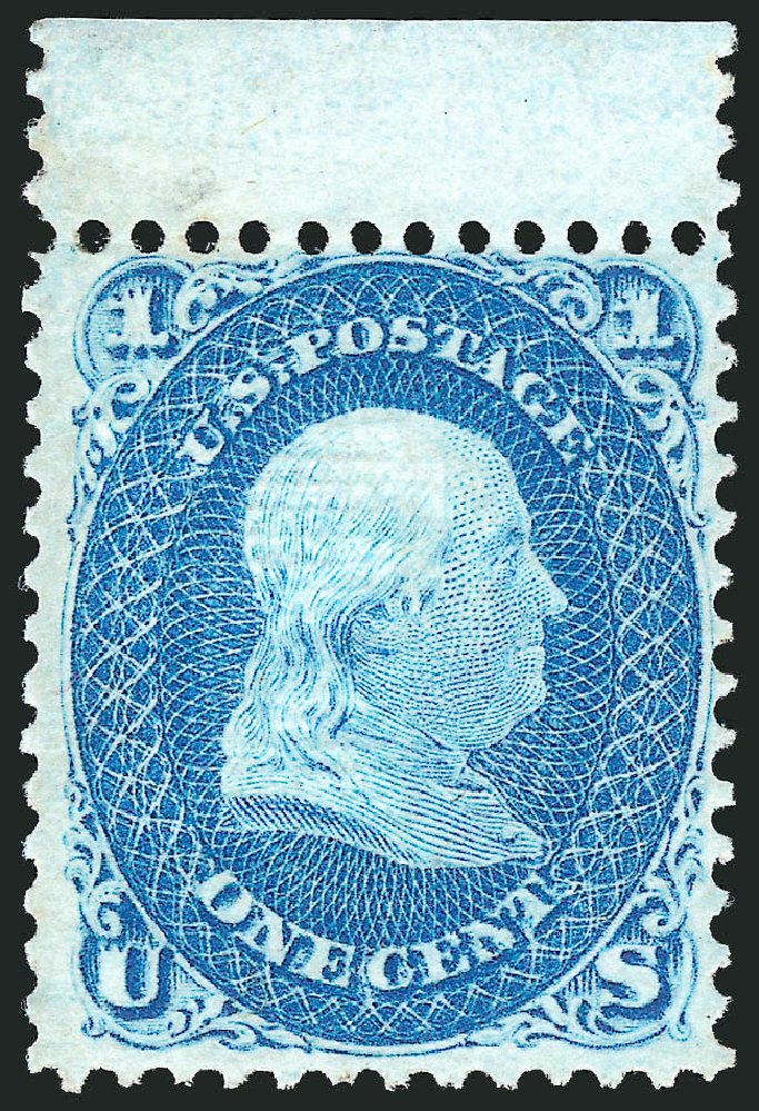 Costs of US Stamp Scott Cat. 92 - 1868 1c Franklin Grill. Robert Siegel Auction Galleries, Apr 2015, Sale 1096, Lot 177