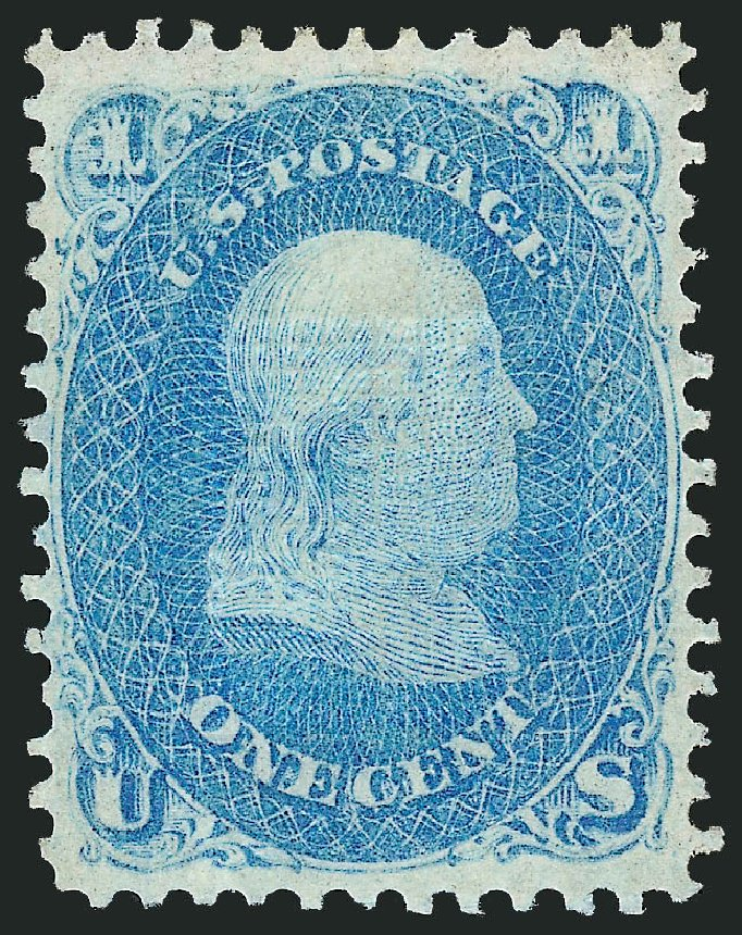 Cost of US Stamps Scott #92 - 1c 1868 Franklin Grill. Robert Siegel Auction Galleries, Jun 2015, Sale 1100, Lot 22