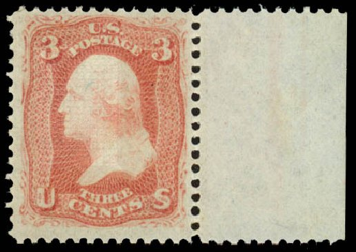 Price of US Stamp Scott Catalog #94: 3c 1868 Washington Grill. Daniel Kelleher Auctions, Jan 2015, Sale 663, Lot 1320