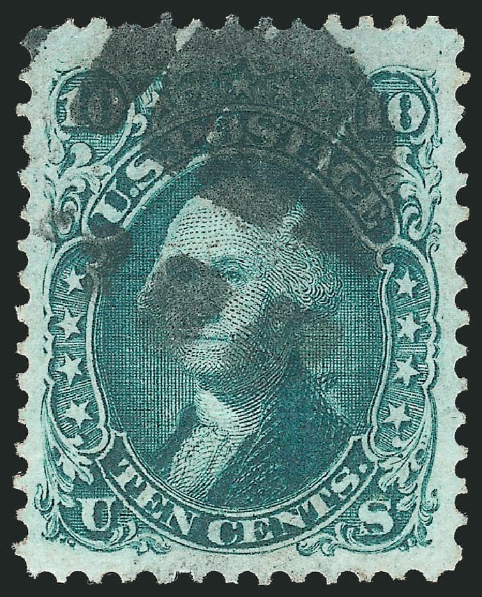 Value of US Stamp Scott Catalog # 96 - 10c 1868 Washington Grill. Robert Siegel Auction Galleries, Nov 2014, Sale 1084, Lot 3281