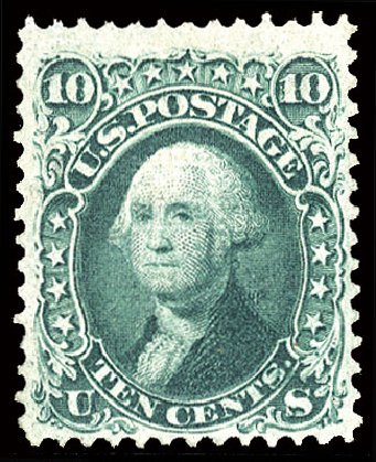 Costs of US Stamps Scott Cat. # 96: 10c 1868 Washington Grill. Cherrystone Auctions, May 2015, Sale 201505, Lot 12
