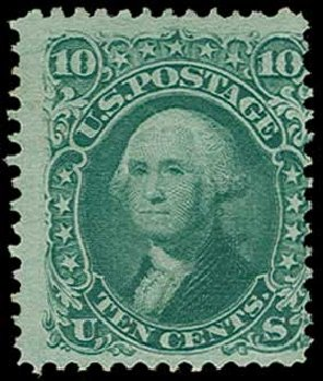 Value of US Stamps Scott 96 - 10c 1868 Washington Grill. H.R. Harmer, Jun 2015, Sale 3007, Lot 3172