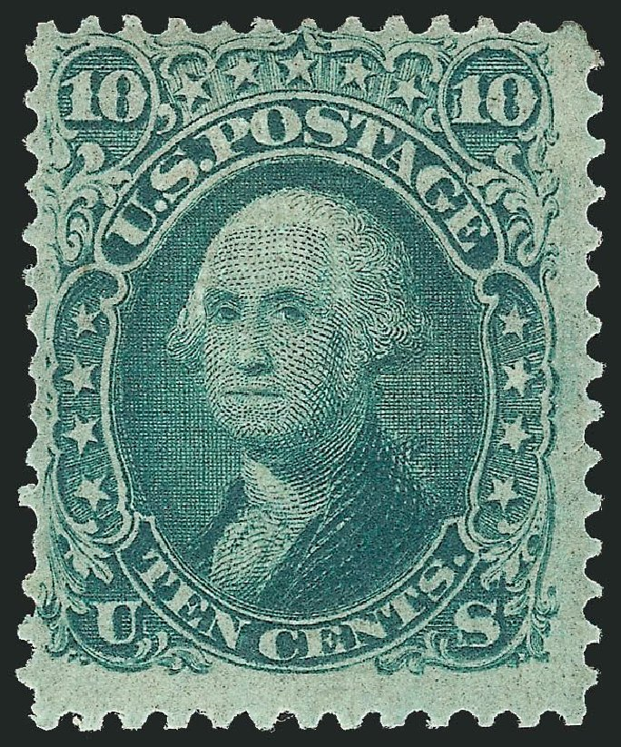 Prices of US Stamps Scott Catalog # 96: 1868 10c Washington Grill. Robert Siegel Auction Galleries, Dec 2014, Sale 1090, Lot 1232