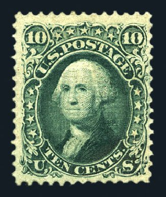 Costs of US Stamps Scott # 96 - 1868 10c Washington Grill. Harmer-Schau Auction Galleries, Aug 2015, Sale 106, Lot 1446