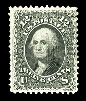 Cost of US Stamps Scott Catalogue 97 - 1868 12c Washington Grill. Cherrystone Auctions, Jul 2015, Sale 201507, Lot 2044
