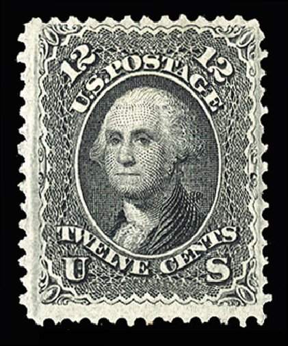 Values of US Stamp Scott Catalogue 97 - 12c 1868 Washington Grill. Cherrystone Auctions, Jul 2015, Sale 201507, Lot 44