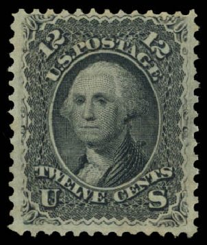 US Stamps Value Scott Cat. 97 - 12c 1868 Washington Grill. Daniel Kelleher Auctions, May 2015, Sale 669, Lot 2544