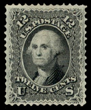 Prices of US Stamps Scott 97: 12c 1868 Washington Grill. Daniel Kelleher Auctions, Aug 2015, Sale 672, Lot 2304
