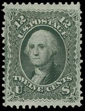 Cost of US Stamp Scott #97 - 12c 1868 Washington Grill. H.R. Harmer, Jun 2015, Sale 3007, Lot 3173