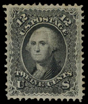 US Stamps Price Scott 97 - 12c 1868 Washington Grill. Daniel Kelleher Auctions, Aug 2015, Sale 672, Lot 2306
