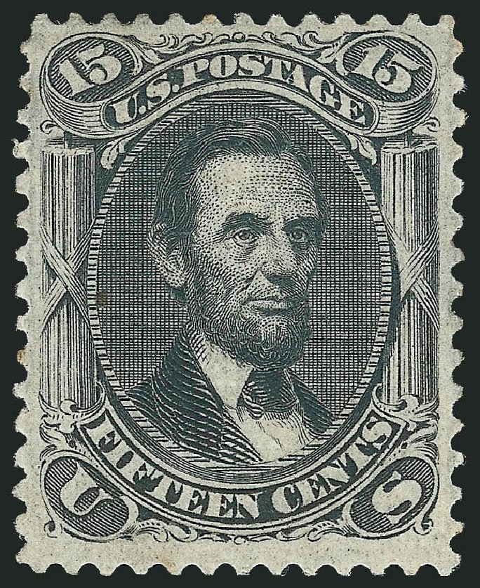Costs of US Stamp Scott Catalogue #98 - 1868 15c Lincoln Grill. Robert Siegel Auction Galleries, Apr 2015, Sale 1096, Lot 188