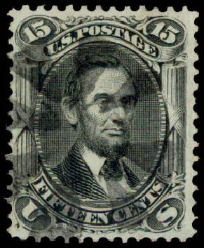 Price of US Stamp Scott Cat. #98: 1868 15c Lincoln Grill. Daniel Kelleher Auctions, May 2015, Sale 669, Lot 2545