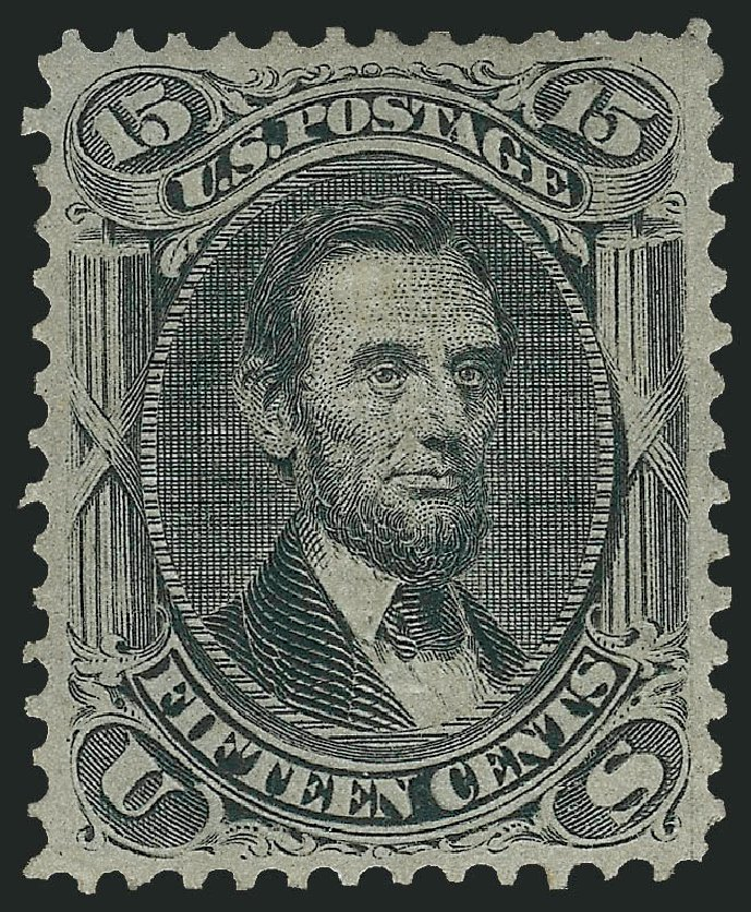 Price of US Stamp Scott Catalogue #98 - 15c 1868 Lincoln Grill. Robert Siegel Auction Galleries, Jun 2015, Sale 1100, Lot 23