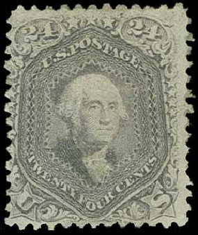 US Stamps Prices Scott Cat. 99: 24c 1869 Washington Grill. H.R. Harmer, Jun 2015, Sale 3007, Lot 3177