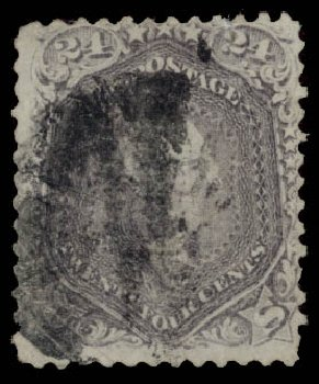 US Stamps Prices Scott Catalogue #99: 1869 24c Washington Grill. Daniel Kelleher Auctions, May 2015, Sale 669, Lot 2547