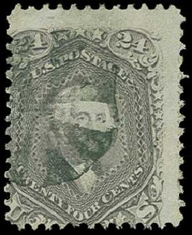 Value of US Stamps Scott Catalog # 99: 1869 24c Washington Grill. H.R. Harmer, Jun 2015, Sale 3007, Lot 3179
