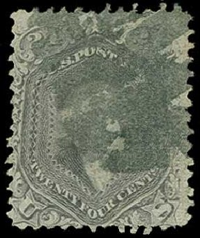 Price of US Stamps Scott Catalogue 99 - 1869 24c Washington Grill. H.R. Harmer, Jun 2015, Sale 3007, Lot 3180