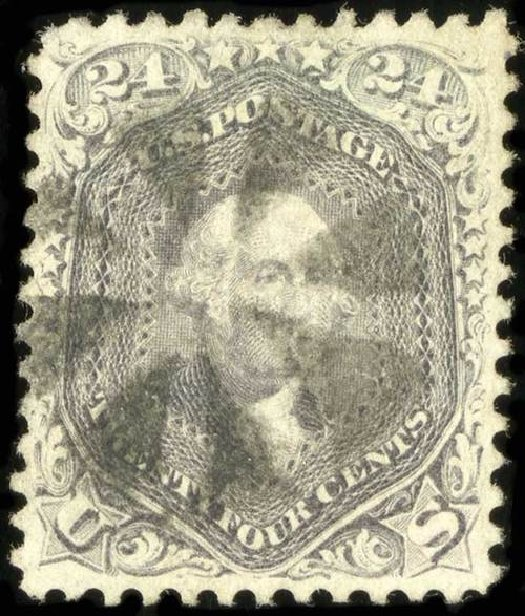 Costs of US Stamps Scott Catalogue # 99 - 1869 24c Washington Grill. Spink Shreves Galleries, Jul 2015, Sale 151, Lot 90