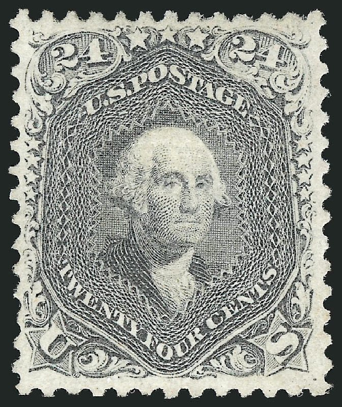 Cost of US Stamp Scott Catalog # 99: 24c 1869 Washington Grill. Robert Siegel Auction Galleries, Jun 2015, Sale 1100, Lot 24