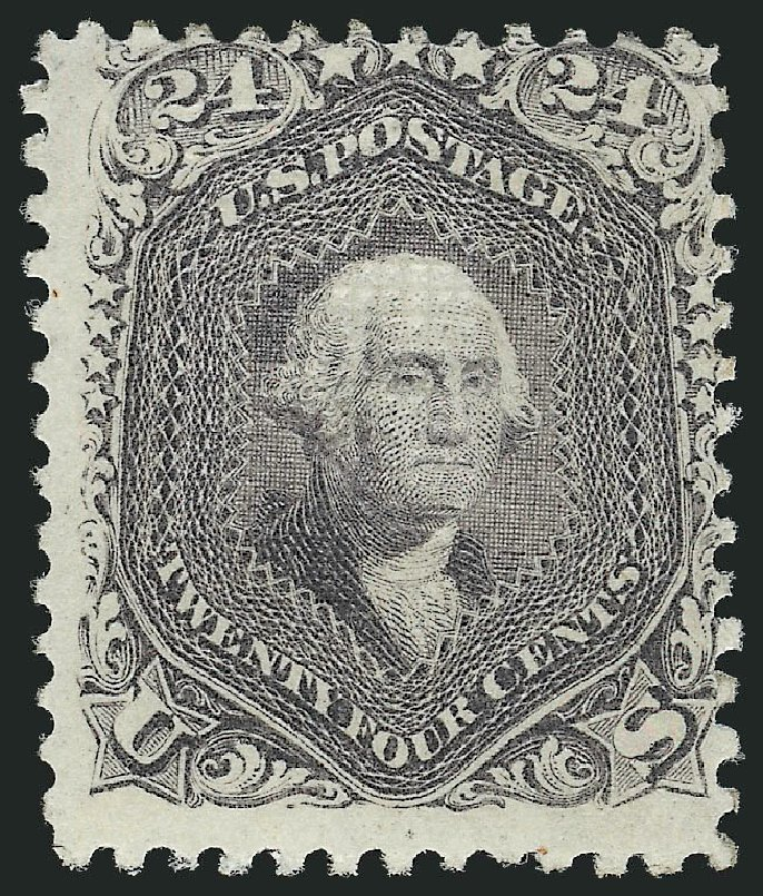 Value of US Stamps Scott Catalogue 99 - 1869 24c Washington Grill. Robert Siegel Auction Galleries, Jul 2015, Sale 1107, Lot 214