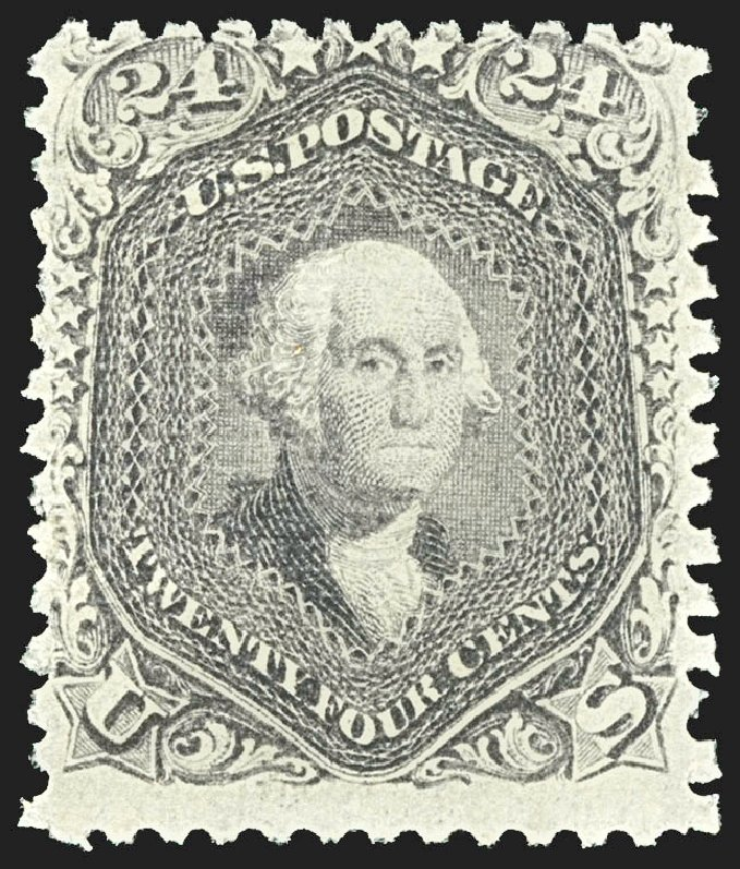 US Stamp Prices Scott #99 - 24c 1869 Washington Grill. Robert Siegel Auction Galleries, Jul 2015, Sale 1107, Lot 213