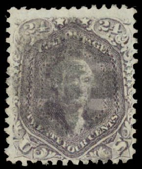 Cost of US Stamps Scott Catalog # 99 - 24c 1869 Washington Grill. Daniel Kelleher Auctions, May 2015, Sale 669, Lot 2546