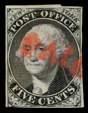 US Stamp Prices Scott # 9X1 - 1846 5c New York Postmasters Provisional. Daniel Kelleher Auctions, May 2015, Sale 669, Lot 2328