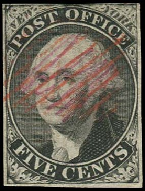 Values of US Stamps Scott Cat. # 9X1 - 5c 1846 New York Postmasters Provisional. Regency-Superior, Nov 2014, Sale 108, Lot 9