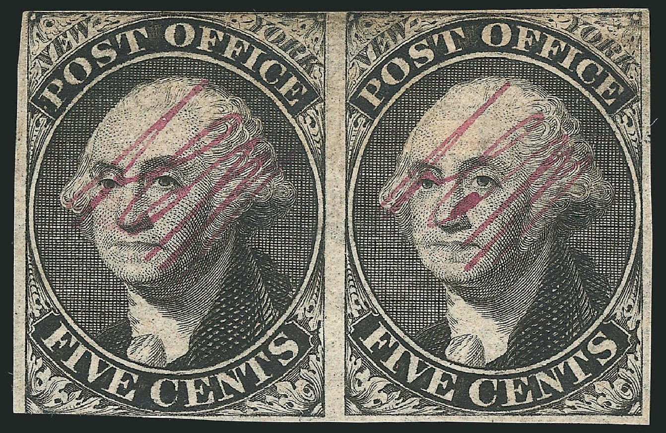 Prices of US Stamp Scott Catalogue 9X1: 1846 5c New York Postmasters Provisional. Robert Siegel Auction Galleries, Dec 2014, Sale 1090, Lot 1079