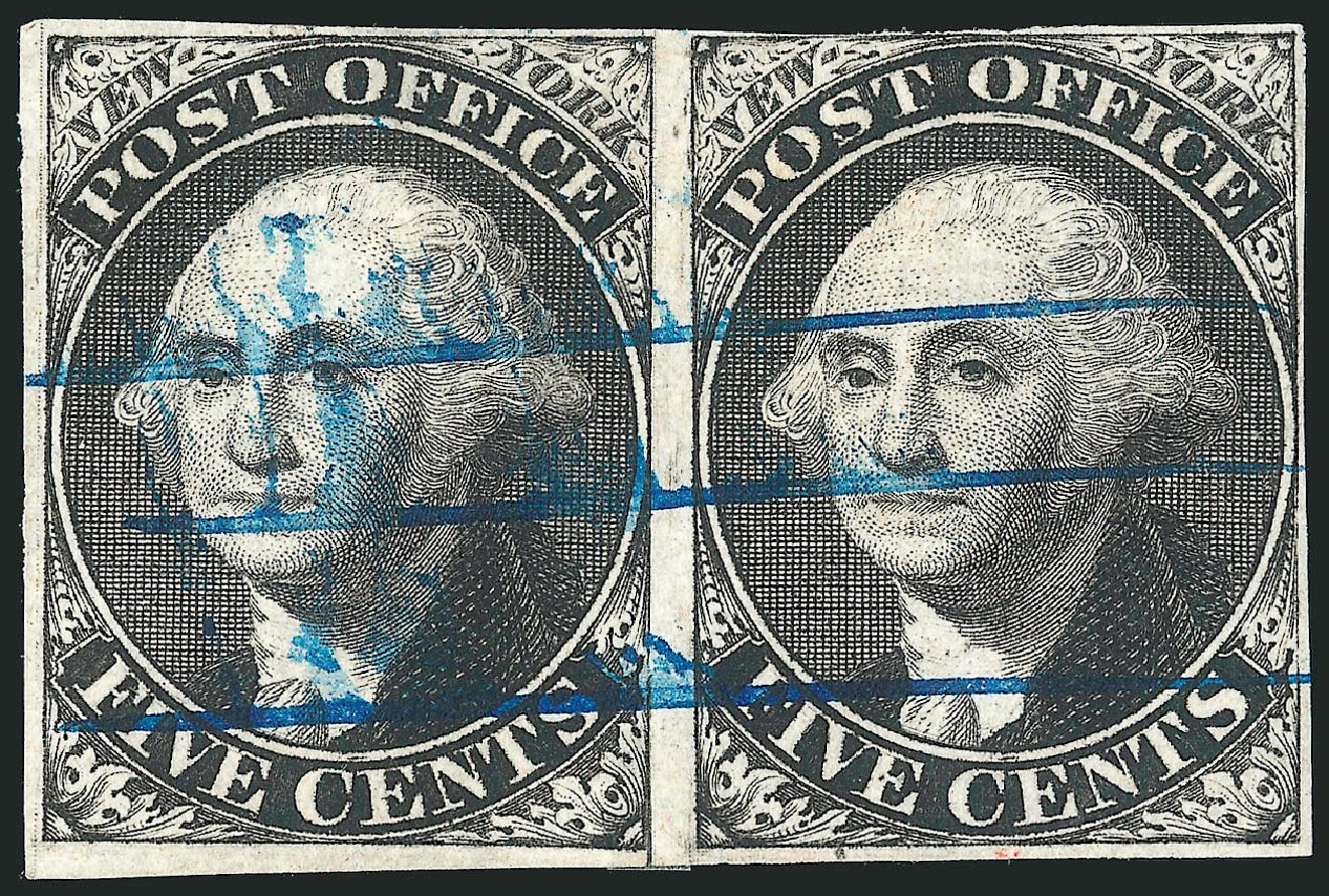 Cost of US Stamp Scott Catalogue #9X1 - 5c 1846 New York Postmasters Provisional. Robert Siegel Auction Galleries, Dec 2014, Sale 1090, Lot 1094