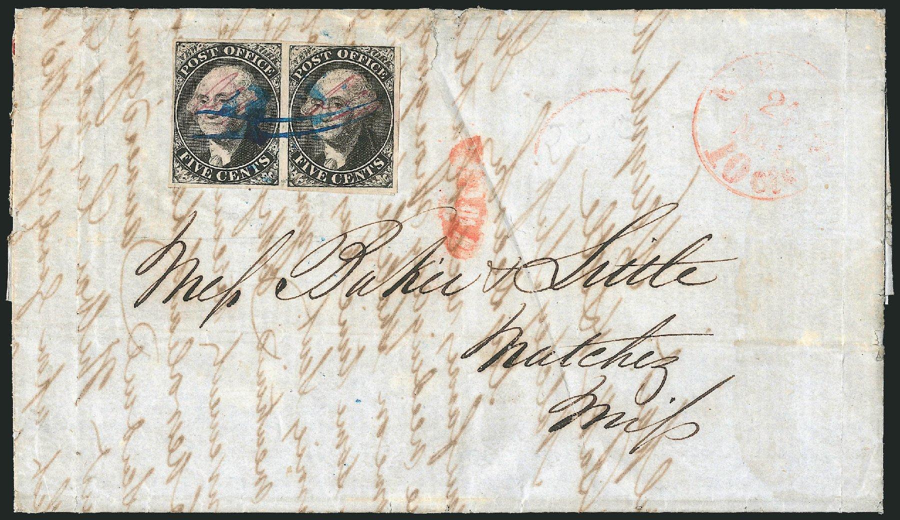 US Stamps Value Scott Catalogue #9X1: 5c 1846 New York Postmasters Provisional. Robert Siegel Auction Galleries, Dec 2014, Sale 1090, Lot 1085