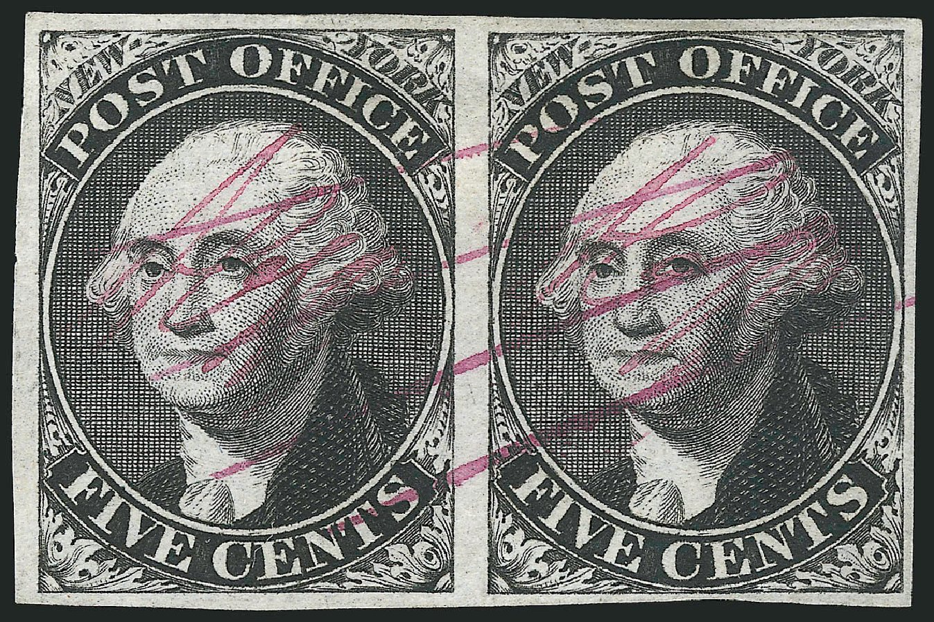 Cost of US Stamps Scott Catalog #9X1: 5c 1846 New York Postmasters Provisional. Robert Siegel Auction Galleries, Dec 2014, Sale 1090, Lot 1083