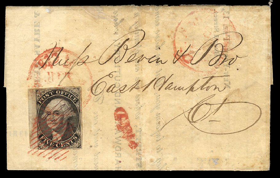 Cost of US Stamp Scott Cat. 9X3 - 5c 1847 New York Postmasters Provisional. Cherrystone Auctions, Apr 2010, Sale 201004, Lot 3
