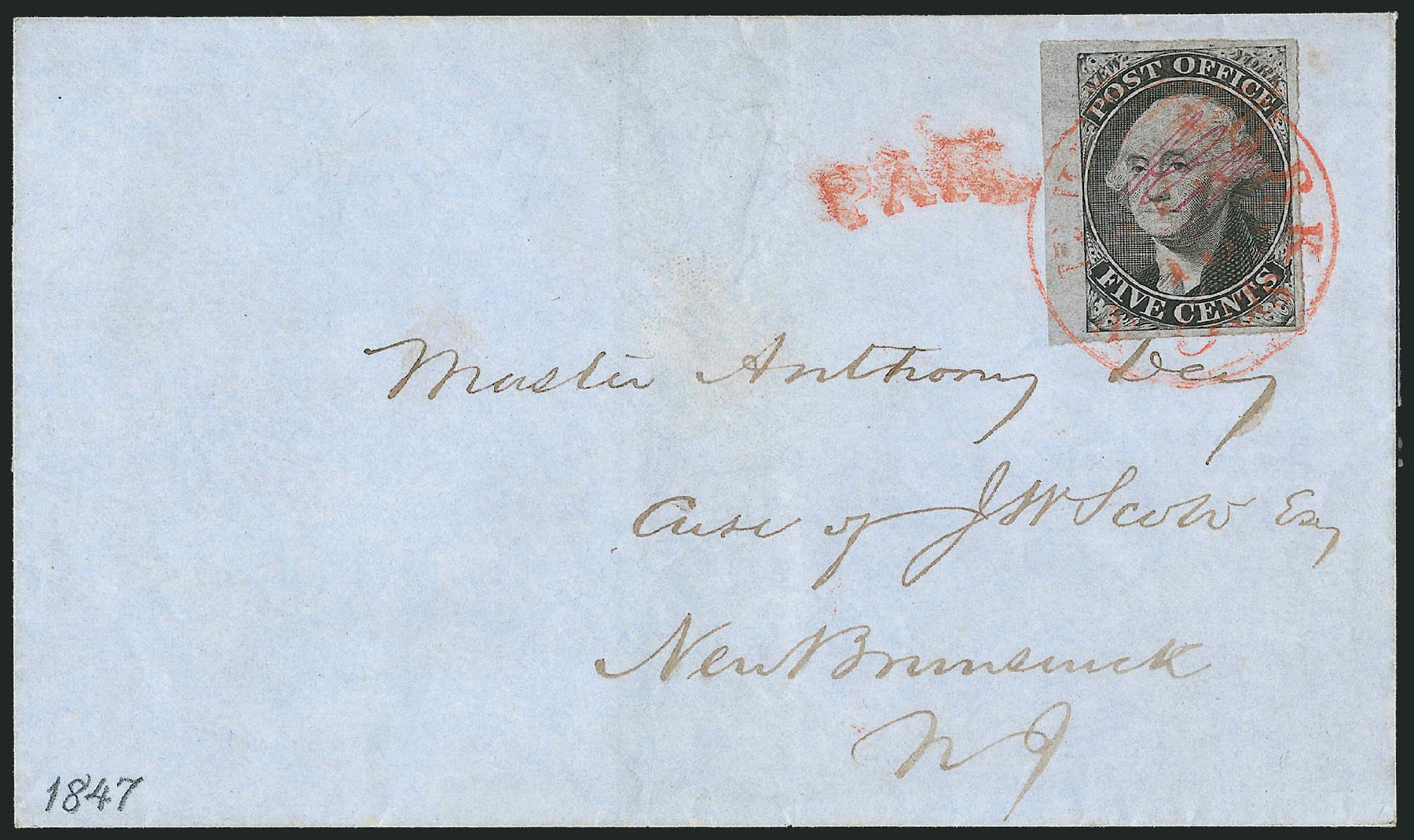 Costs of US Stamps Scott Catalogue # 9X3: 1847 5c New York Postmasters Provisional. Robert Siegel Auction Galleries, Dec 2010, Sale 999, Lot 583