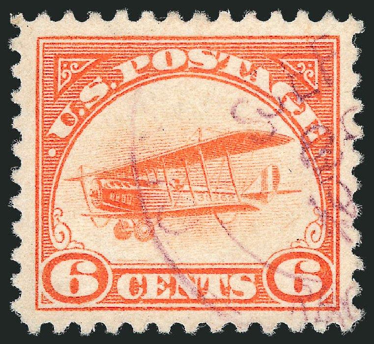 Price of US Stamps Scott #C1: 1918 6c Air Curtiss Jenny. Robert Siegel Auction Galleries, Jul 2013, Sale 1050, Lot 687