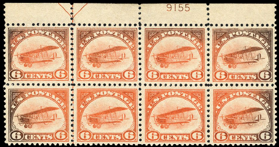 Prices of US Stamp Scott C1 - 1918 6c Air Curtiss Jenny. Cherrystone Auctions, Mar 2009, Sale 200903, Lot 248