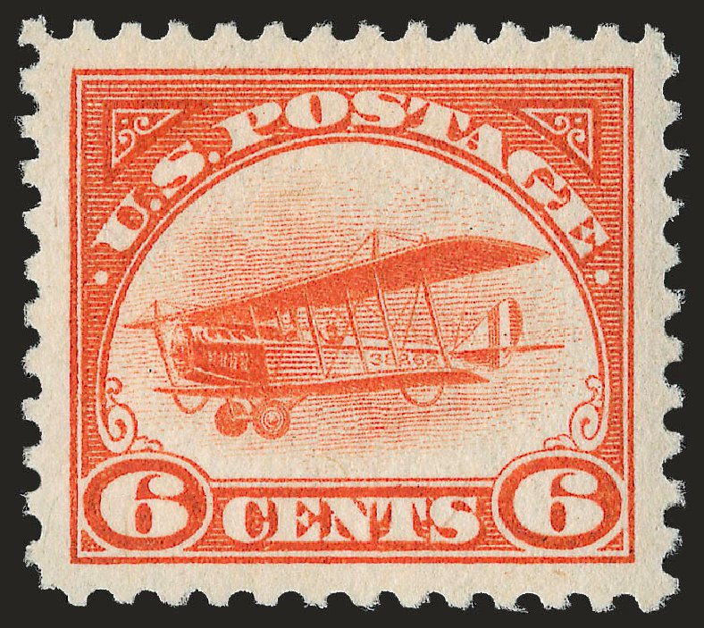 US Stamp Prices Scott Catalogue #C1: 1918 6c Air Curtiss Jenny. Robert Siegel Auction Galleries, Jun 2009, Sale 973, Lot 238