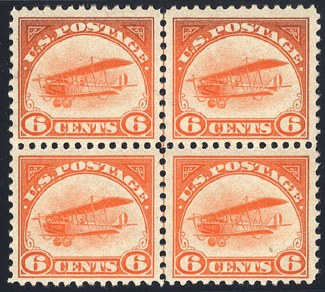 Prices of US Stamp Scott #C1: 1918 6c Air Curtiss Jenny. Cherrystone Auctions, Jan 2009, Sale 200901, Lot 249