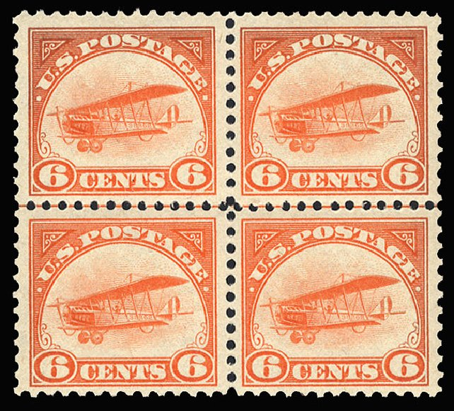 Price of US Stamp Scott Catalogue #C1 - 6c 1918 Air Curtiss Jenny. Cherrystone Auctions, Jan 2009, Sale 200901, Lot 250
