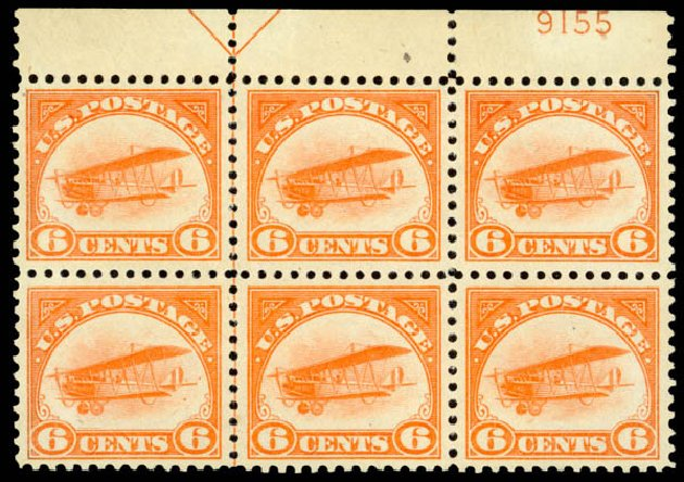 Price of US Stamps Scott Catalog # C1 - 1918 6c Air Curtiss Jenny. Daniel Kelleher Auctions, Jan 2015, Sale 663, Lot 2050