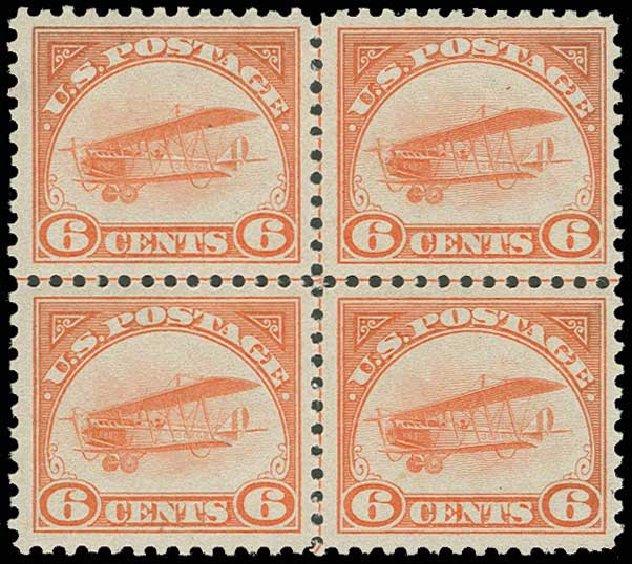 Prices of US Stamp Scott #C1: 1918 6c Air Curtiss Jenny. H.R. Harmer, Jun 2013, Sale 3003, Lot 1531
